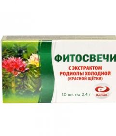 Фитосвечи с экстрактом родиолы холодной (красной щетки)