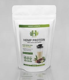 Конопляный протеин с натуральным какао и ванилью