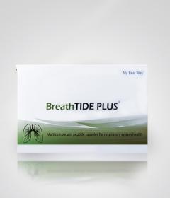 BreathTIDE PLUS – многокомпонентный пептидный биорегулятор, действие которого направлено на восстановление структуры и функций бронхолегочной системы