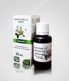 Лапчатка белая экстракт - рекомендован при нарушениях работы щитовидной железы и гинекологических заболеваниях