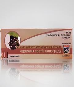 Фитосвечи с экстрактом кожуры и косточек красных сортов винограда